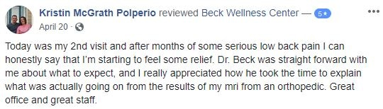 Beck Wellness Center in Toms River NJ Patient Testimonial